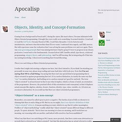 Objects, Identity, and Concept-Formation « Apocalisp