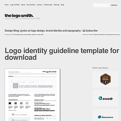 Logo identity guideline template for download