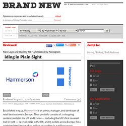 New Logo and Identity for Hammerson by Pentagram