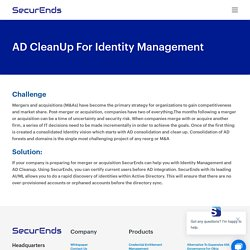 AD CleanUp For Identity Management
