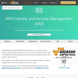 Identity and Access Management (IAM) - Amazon Web Services (AWS)