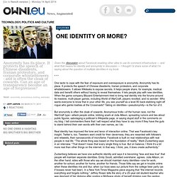 One identity or more? » Article » OWNI.eu, Digital Journalism