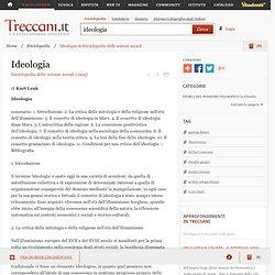 """Ideologia in """"Enciclopedia delle scienze sociali"""""""