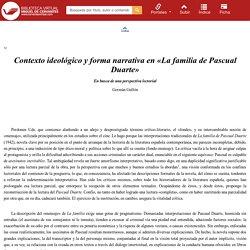 """Contexto ideológico y forma narrativa en """"La familia de Pascual Duarte"""" : en busca de una perspectiva lectorial / Germán Gullón"""