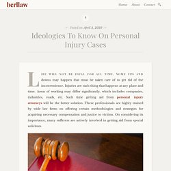 Ideologies To Know On Personal Injury Cases