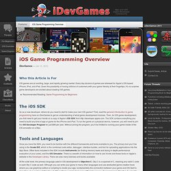 iOS Game Programming Overview