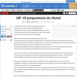 Flash actu : IdF: 45 propositions du Medef