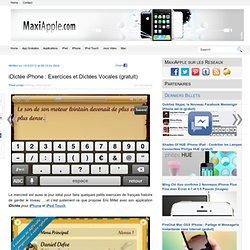 iDictée iPhone : Exercices et Dictées Vocales