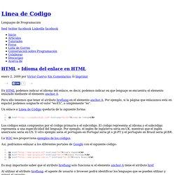 Idioma del enlace en HTML