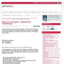 Ressource d'anglais - Expression idiomatiques - prepa-HEC.org - ESC, prépa, classements et concours depuis 1999