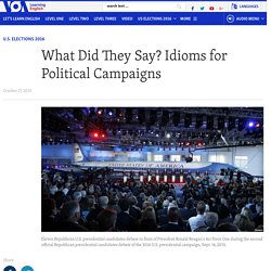 What Did They Say? Idioms for Political Campaigns