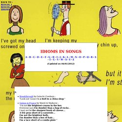Idioms in Songs