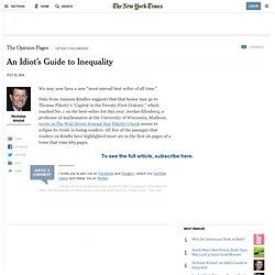 An Idiot's Guide to Inequality