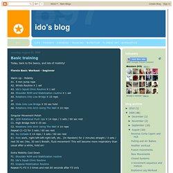 Ido's Blog: Basic training