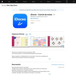 iDoceo - Carnet de notes dans l'App Store