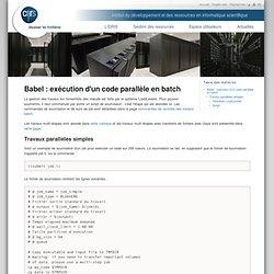 Babel: exécution d'un code parallèle en batch