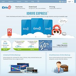 Online Backup, Data Backup and Remote Backup for PC and Mac | IDrive