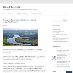 bacino idrografico e bacino idrografico tributario