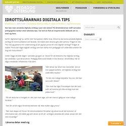 Idrottslärarnas digitala tips