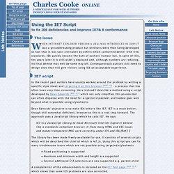 Using Dean Edwards IE7 Script