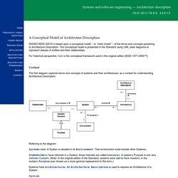 ISO/IEC/IEEE 42010: Conceptual Model