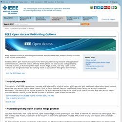 IEEE Open Access Publishing Options