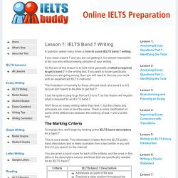 IELTS Band 7 Writing