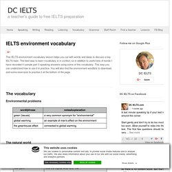 IELTS Environment vocabulary