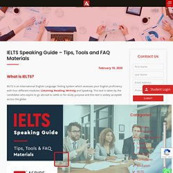 IELTS Speaking Guide - Tips, Tools and FAQ Materials