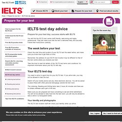 IELTS test date - Preparation advice for your test day