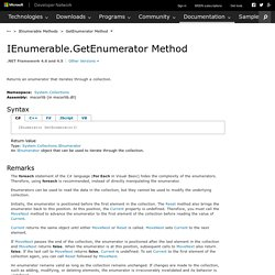 IEnumerable.GetEnumerator Method (System.Collections)