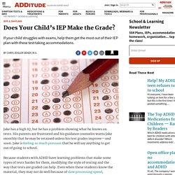 IEP Plans & ADHD Test Taking