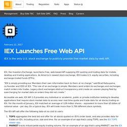 IEX Launches Free Web API