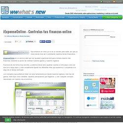 iExpenseOnline - Controlas tus finanzas online