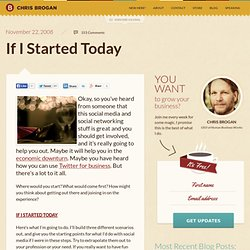If I Started Today | chrisbrogan.com