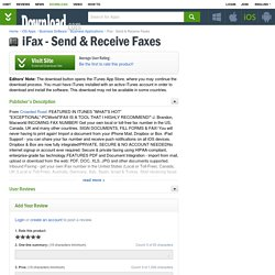 iFax - Send & Receive Faxes for iOS