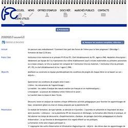 IFC - Détail de formation