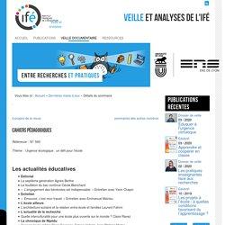 Sommaire Cahiers pédagogiques - Urgence climatique - N°560