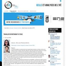 Partenariat_Dossier de veille de l'IFÉ n° 134, avril 2020: Travailler en partenariat à l'école _article de pré