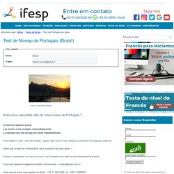 ifesp - Test de Portugais en ligne