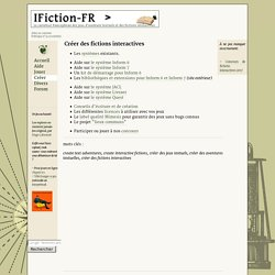 Le carrefour francais de la fiction interactive