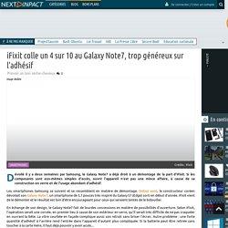 iFixit colle un 4 sur 10 au Galaxy Note7, trop généreux sur l'adhésif