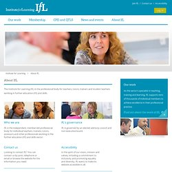 IfL - The Institute for Learning - About IfL
