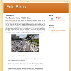 iFold Bikes: Your Guide for Buying Foldable Bikes