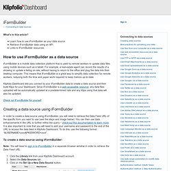 How do I use iFormBuilder as my data source? – Feedback & Ideas for Klipfolio Dashboard
