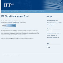 Global Environment Fund - IFP