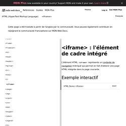 <iframe> - HTML (HyperText Markup Language)