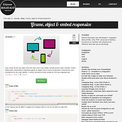 Iframe, object & embed responsive