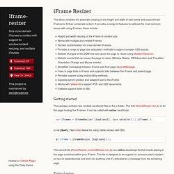 Iframe-resizer by davidjbradshaw