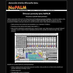 Šifrovací pomůcky týmu NaPALM